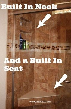 Check out our amazing Tub to Shower Bathroom Remodel! Before and After photos included! #Remodel #Bathroom #Frugal 3066 258 4 Angela West Dixon Crafty Ideas Barb Mallett I would love to have a seat in my shower!!!