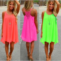5,31€ - Women Dresses Sexy Summer Casual Sleeveless Chiffon Hollow Out Party Beach Dress - mrnewbird - https://www.youtube.com/watch?v=Jup2qyepnqg