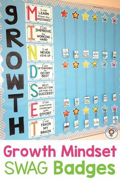 Growth Mindset Swag Badges Growth Mindset Swag Badges – Recognize and reward your upper elementary and grade students. You get 55 different swag badges for your classroom. Manage your students. Student Incentives, Classroom Incentives, Classroom Behavior, Classroom Signs, 5th Grade Behavior, 5th Grade Classroom, Positive Behavior Management, Behavior Rewards, Elementary Schools