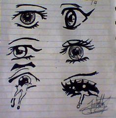 practicando, ojos°°
