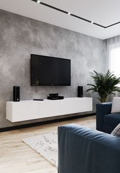 Living Room Tv Unit, Living Room Grey, Small Living Rooms, Living Room Designs, Living Room Furniture, Living Room Decor, Modern Living, Modern Tv Room, Wooden Furniture