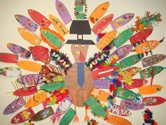 Thankful Parish Pre-K students.  A fun classroom activity for your younger students.  The outcome: a giant turkey filled with colorful feathers that capture what each child is thankful for.