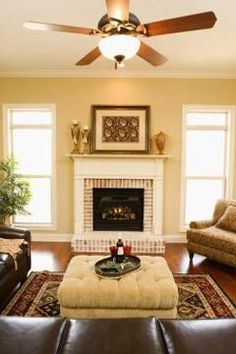 Install a mantel surround to give an instant update to an old fireplace.