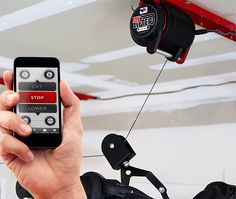 myLIFTER - This iOS app-driven electric hoist makes it way easier to lift your stuff up for elevated, out-of-the-way storage. | Werd