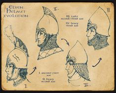 Elven Helmet Evolution by ~Merlkir on deviantART