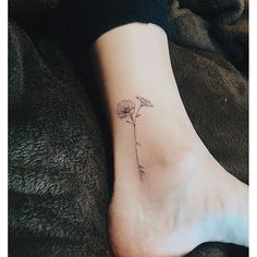 @nandotattooer - Single line flower...