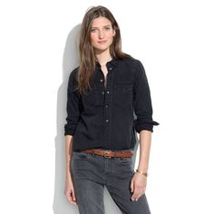 Western Jean Shirt in Gravel - CHAMBRAY - Women's Madewell_Shop_By_Category - Madewell