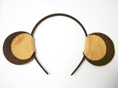 Handmade Felt 'Monkey' Ear Headband