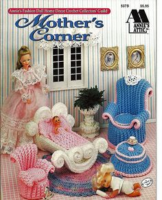 Barbie Furniture Mother's Corner Annies Attic by grammysyarngarden, $7.00