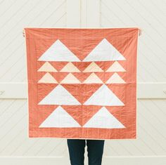 The Mountain Quilt in Desert by Vacilando Quilting Co. Double-sided and available in two sizes.