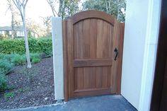 M&M Builders - Fence and Gate Details Side Gates, Front Gates, Entrance Gates, Backyard Gates, Fence Gate, Fences, Front Yard Design, Wooden Gates, Garden Landscape Design