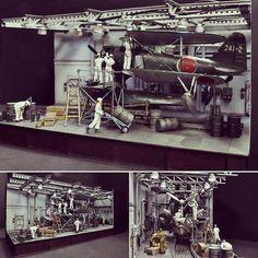 "F1M2 maintenance at the Japanese Battleship ""Yamato"". Unknown modeler #scalemodel #plastimodelismo #plasticmodel #plastimodelo #usinadoskits #udk #plamodel #plastickits #hobby #yamato #hobby"