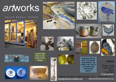 Multi-disciplinary work available from over 100 makers at Artworks, in South Brent, Devon.
