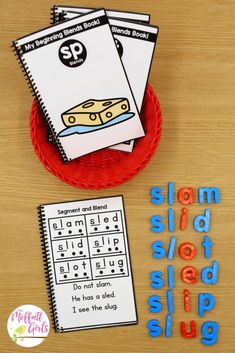 Hands-on, engaging, and systematic phonics for beginning readers! This beginning blends packet is part of the Phonics Made Fun Level B Bundle! Silly Words, B Words, First Grade Phonics, First Grade Reading, Reading Centers, Reading Skills, Literacy Centers, Spelling Activities, Writing Activities