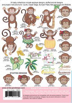 Anita Goodesign   Baby Monkeys - Anita Goodesign