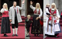 Принц Норвегии с женой и детьми