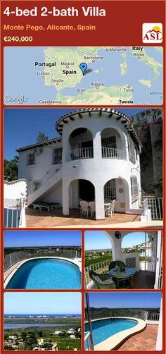 4-bed 2-bath Villa in Monte Pego, Alicante, Spain ►€240,000 #PropertyForSaleInSpain