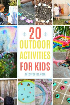 These outdoor activities for kids are guaranteed to be entertaining. From fun sidewalk chalk paintings to outdoor games, there's something for everyone! Outdoor Fun For Kids, Summer Fun For Kids, Outdoor Activities For Kids, Outdoor Games, Kids Fun, Learning Activities, Games For Kids, Crafts For Kids, Sidewalk Chalk