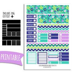 Lucky PRINTABLE Planner Stickers for Erin Condren Vertical