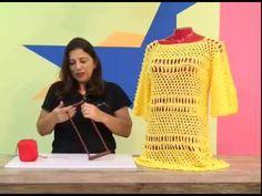 Blusa em Crochê de Grampo com Camila + / Cristina Amaduro.
