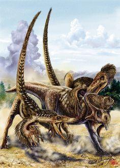 Velociraptor and Protoceratops by