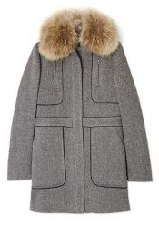 Racoon Trim Tweed Coat by Vanessa Bruno Athe- winter coat time!