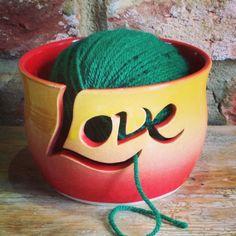 'Love' Yarn Bowl by Earth Wool & Fire.
