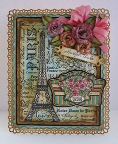 JustRite Paris Background stamp.   Lovely!