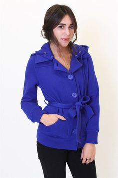 Awesome blue belted coat