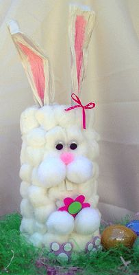 Cotton Ball Container Bunny - Crafts by Amanda
