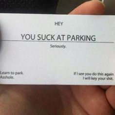 I MUST print something similar ASAP. I wish I could flash signs at some of the worst drivers in Texas (Hispanic women!!)