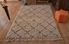 Beni-Ourain-throw-area-rug-Moroccan-handmade-all-wool-62x43