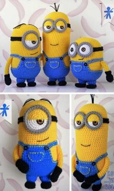 DIY Amigurumi Crochet Minion Free Patterns DIY Amigurumi Crochet Mi… DIY Amigurumi Crochet Minion Free Patterns DIY Amigurumi Crochet Minion Free Patterns Related + New Trend Crochet Amigurumi Muster Ideen und. Minion Pattern, Crochet Pattern Free, Crochet Amigurumi Free Patterns, Crochet Animal Patterns, Knitting Patterns, Crochet Animal Amigurumi, Crochet Animals, Crochet Crafts, Crochet Projects