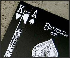Inverted Bicycle playing cards.