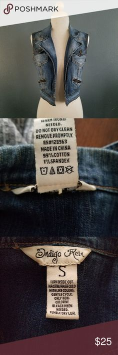 Indigo Rein Jean Vest Like new. Indigo Rein Jackets & Coats Vests