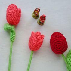 PDF Crochet Flower Tulip Pattern Easy crochet flower by Soles