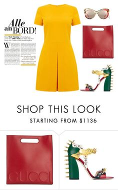 """Untitled #1163"" by diana-kulieva ❤ liked on Polyvore featuring Gucci and Warehouse"