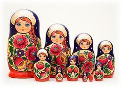 Volga Maiden Nesting Doll