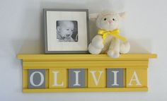Yellow and Gray Nursery Wall art  Yellow Baby Girl by NelsonsGifts, $38.00
