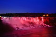 Niagara Falls, located in both Ontario, Canada and New York, USA