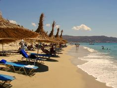 Plaka beach, Naxos, Greece