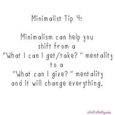 Minimalist Tip 4  What are your gifts?