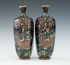 A Miniature Pair of Mirror Opposing Hexagonal Vases, Meiji Period, 03.31.11, Sold: $977.5