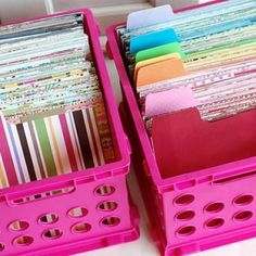 Scrapbook paper organization-what a great idea....I have so much in a pile and it's driving e crazy!