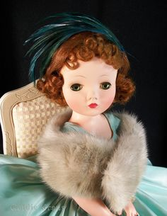 Cissy in Aqua Taffeta Cocktail Dress Old Dolls, Antique Dolls, Vintage Madame Alexander Dolls, Glamour Dolls, Creepy Dolls, Vintage Barbie Dolls, Dollhouse Dolls, Custom Dolls, Paper Dolls