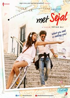 Bollywood actor Shah Rukh Khan and Anushka Sharma& Jab Harry Met Sejal are full of life on the posters of the film which revealed the movie title. Hindi Movies Online, Watch Free Movies Online, Movies Free, Srk Movies, Imdb Movies, New Movie Posters, Film Posters, The Image Movie, Full Movies Download