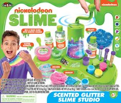 Nickelodeon Super Slime Studio by Cra-Z-Art! The ultimate slime studio for making scented glitter slime! Simply, add your ingredients into the slime maker, turn Slime Kit, Diy Slime, Slime Swirl, Cute Best Friend Gifts, Sticky Slime, Slime Shops, Glitter Slime, Nickelodeon, How To Make Slime