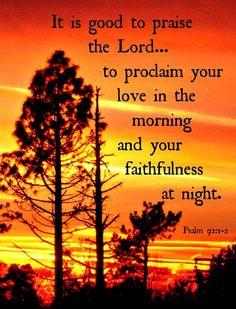 Psalm 92: 1-2