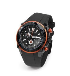 Giorgio Fedon 1919 Chronograph Sport Automatic Orange Rubber Watches, Black Rubber, Casio Watch, Chronograph, Sport, Orange, Accessories, Collection, Deporte