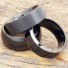 Tungsten Rings   Tungsten Wedding Bands - Forever Metals Black Tungsten Rings, Tungsten Carbide Rings, Claddagh Rings, Tungsten Wedding Bands, Shades Of Black, Black Rings, Metals